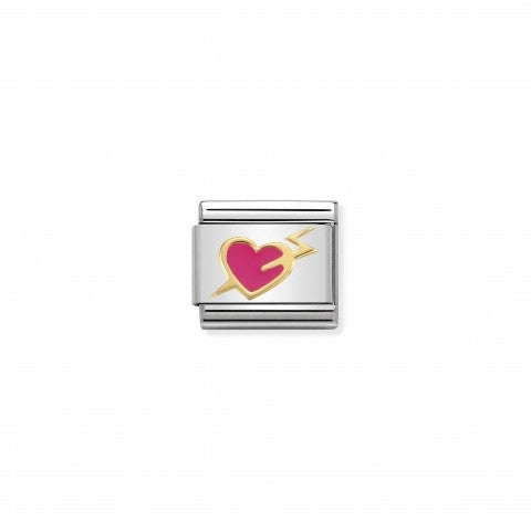 Composable_Classic_Link_Fuchsia_Heart_with_Bolt_Link_with_Heart_and_Lightening_in_18K_gold_and_enamel
