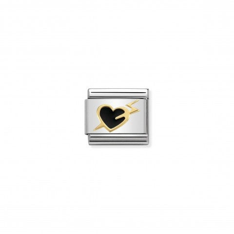 Composable_Classic_Link_Black_Heart_with_Bolt_Link_in_18K_gold_and_enamel_with_Love_symbol