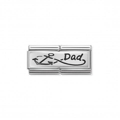 Doppio_Link_Composable_Classic_Infinito_Dad_Link_in_Argento_925_con_simbolo_Infinito_e_scritta_Dad