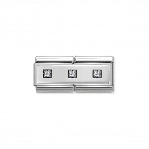 Composable_Classic_Double_Link_with_3_Stones_Link_with_Plate_and_3_Cubic_Zirconia