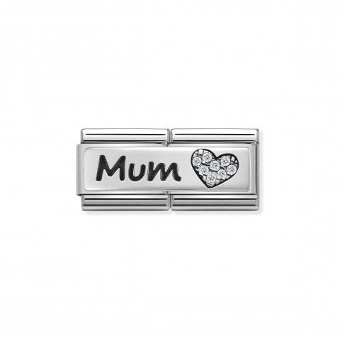 Composable_Classic_Double_Link_Mum_and_Heart_Link_with_writing_and_Heart_in_silver_and_Stones