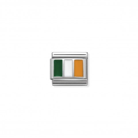 Link_Composable_Classic_Irlanda_con_Smalto_Link_con_bandiera_Irlanda_in_Argento_925_e_Smalto