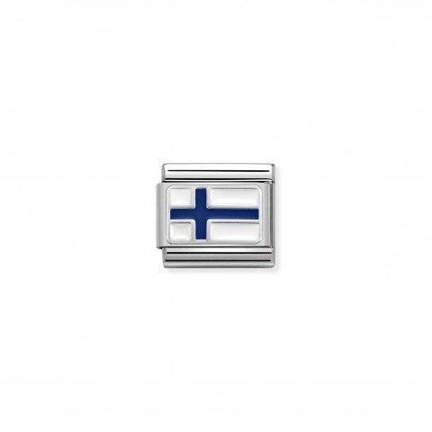 Link_Composable_Classic_Finlandia_con_Smalto_Link_in_Acciaio,_Argento_e_Smalto_con_bandiera_finlandese