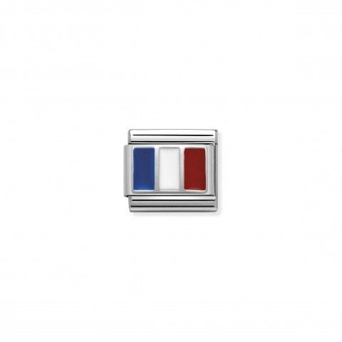Link_Composable_Classic_Francia_con_Smalto_Link_con_Bandiera_francese_in_Argento_925_e_Smalto_colorato