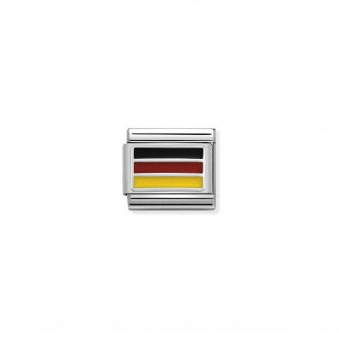 Composable_Classic_Link_Germany_with_Enamel_Link_with_German_Flag_in_silver_and_coloured_enamel