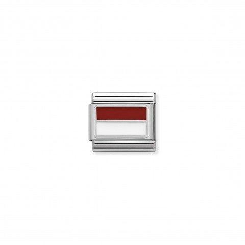 Link_Composable_Classic_Principato_di_Monaco_in_Smalto_Link_con_bandiera_in_Argento_925_e_Smalto_colorato