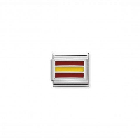 Link_Composable_Classic_Spagna_con_Smalto_Link_in_Argento_925_con_simbolo_bandiera_Spagnola