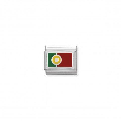 Link_Composable_Classic_Portogallo_con_Smalto_Bandiera_in_Argento_925_e_Smalto_colorato