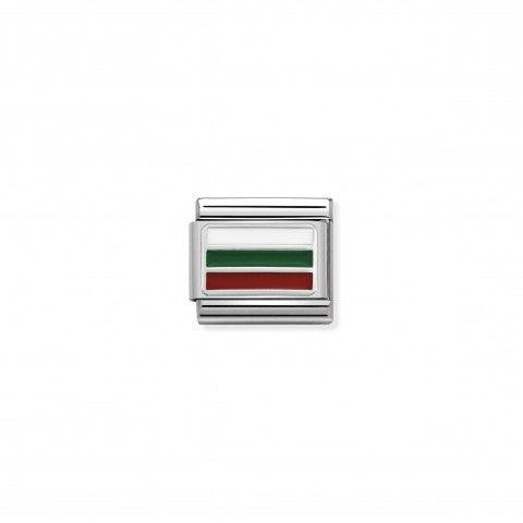 Link_Composable_Classic_Bulgaria_con_Smalto_Bandiera_bulgara_in_Argento_925_e_Smalto_colorato