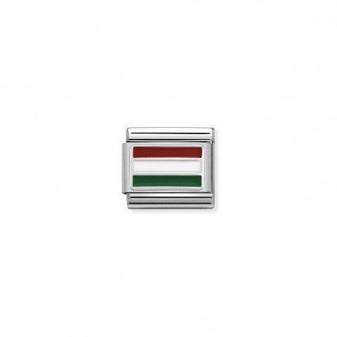 Composable_Classic_Link_Hungary_with_Enamel_Flag_in_sterling_silver_and_coloured_enamel