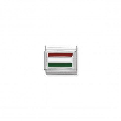 Link_Composable_Classic_Hongrie_avec_Email_Drapeau_en_Argent_925_et_Email_coloré