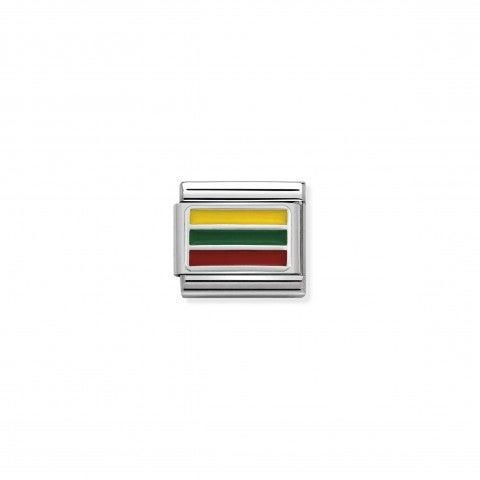 Link_Composable_Classic_Lituania_con_Smalto_Bandiera_della_Lituania_in_Argento_925_e_Smalto_colorato