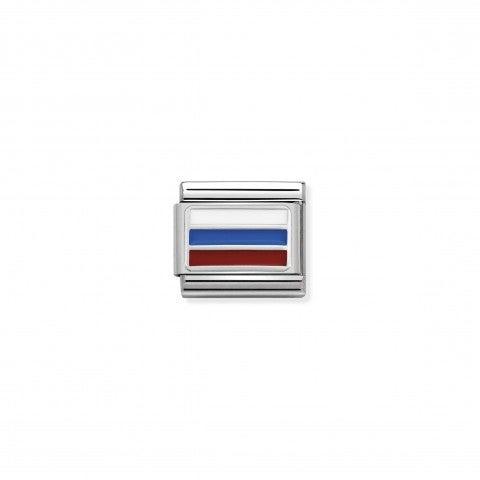 Link_Composable_Classic_Russia_con_Smalto_Bandiera_Russa_in_Argento_925_e_Smalto_colorato