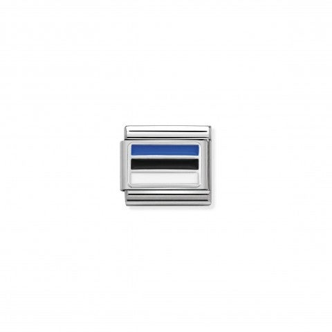 Composable_Classic_Link_Estonia_with_Enamel_Estonian_Flag_in_sterling_silver_and_coloured_enamel
