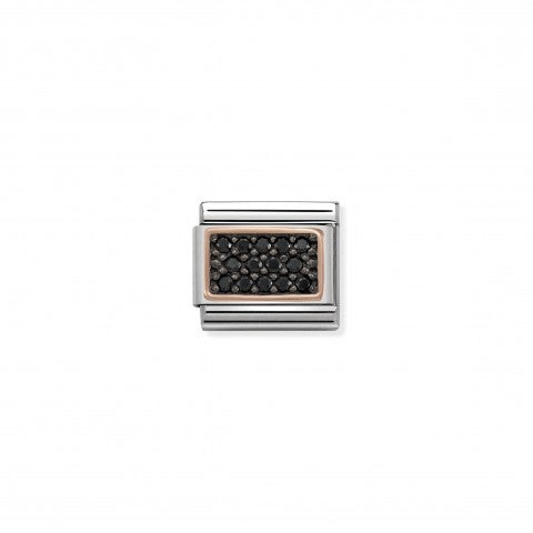 Composable_Classic_Link_Black_Pavé_Link_with_9K_rose_gold_details_and_coloured_Stones