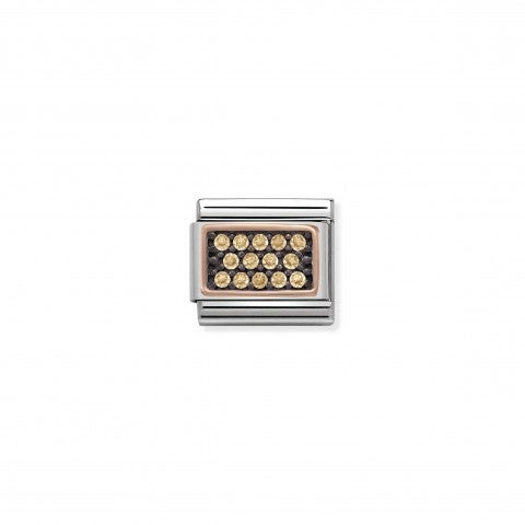 Composable_Classic_Link_Champagne_Pavé_Link_in_stainless_steel_and_9K_rose_gold_with_Stones