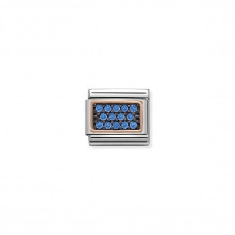 Composable_Classic_Link_Light_Blue_Pavé_Steel_and_9K_rose_gold_Link_with_coloured_Zirconia