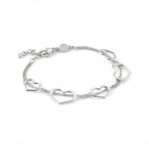 Bracelet_Unica_avec_Cœurs_Bracelet_en_argent_avec_symboles_d'Amour
