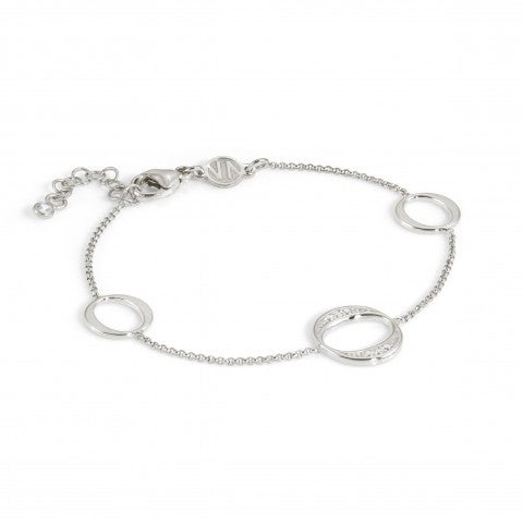 Unica_Bracelet_with_3_Ovals_Sterling_silver_bracelet_with_white_stones