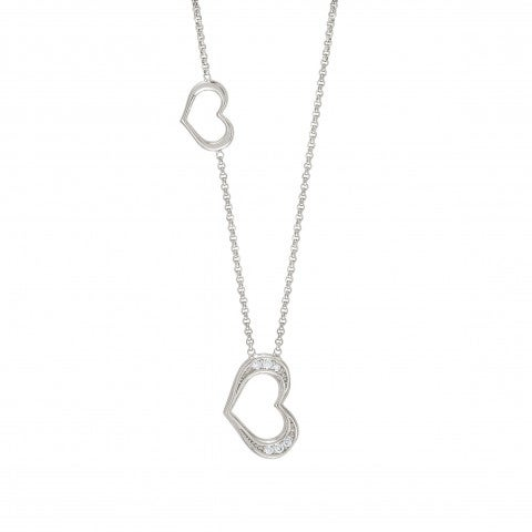 Unica_Necklace_with_Hearts_Sterling_silver_necklace_for_romantic_occasions