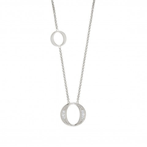 Unica_Necklace_with_Ovals_Silver_necklace_with_Cubic_Zirconia