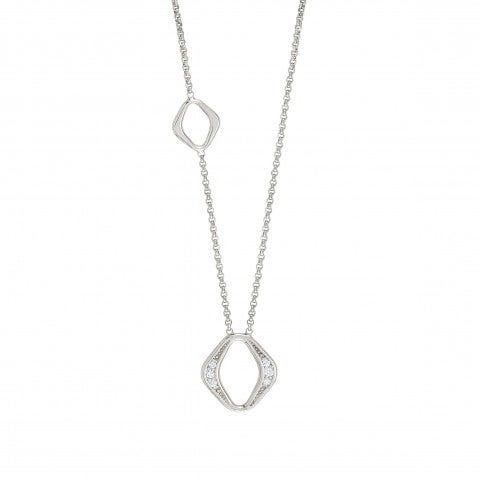 Unica_Necklace_with_Rhombi_Silver_necklace_for_her_with_white_stones