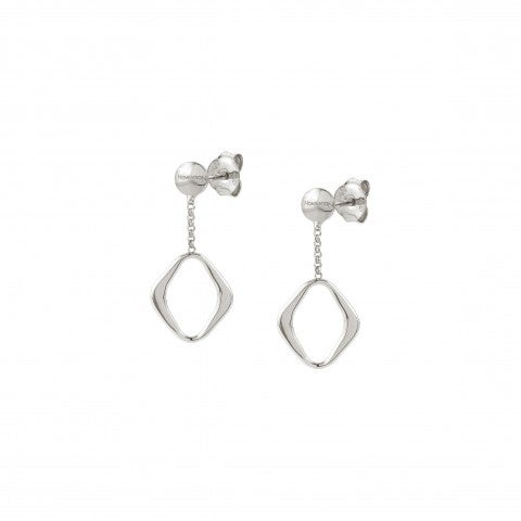 Unica_Earrings_with_Rhombus_Earrings_in_silver_with_geometric_shapes