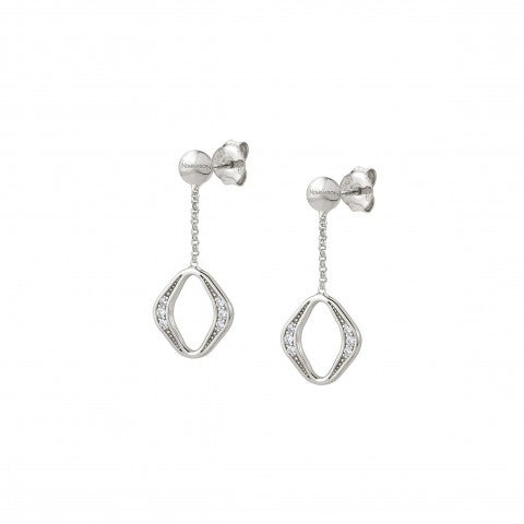 Unica_Rhombus_Earrings_with_Stones_Earrings_in_silver_with_pendant
