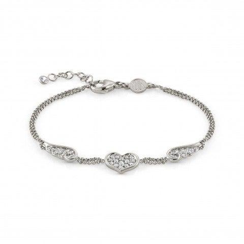 Bracelet_Angel_Love_edition_avec_cœur_en_argent_Bracelet_Angel_avec_Cubic_Zirconia_Amitié