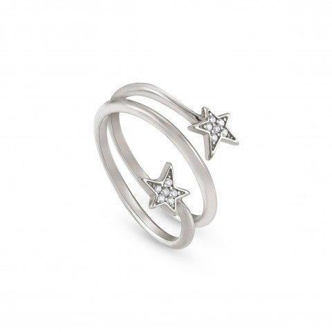 Ring_with_two_Stars_and_white_Zirconia_Ring_in_sterling_silver_with_Zirconia