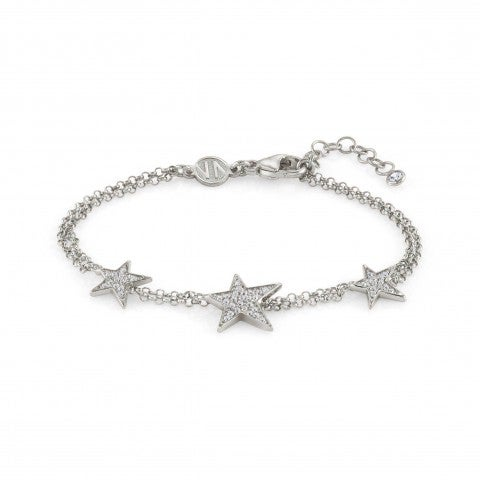 Bracelet_with_three_Stars_and_Zirconia_Bracelet_with_stars_and_white_Cubic_Zirconia
