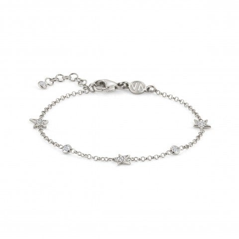 Bracelet_with_three_Small_Stars_and_Zirconia_Bracelet_in_sterling_silver_with_white_Cubic_Zirconia