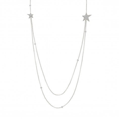 Long_Necklace_with_Stars_and_White_Zirconia_Long_necklace_in_sterling_silver_with_Stars