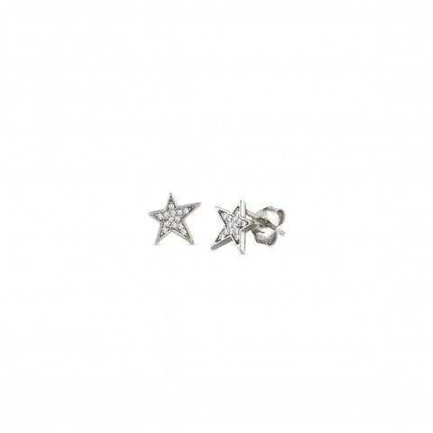 Stud_Earrings_with_Stars_and_White_Zirconia_Earrings_in_sterling_silver_with_Stars