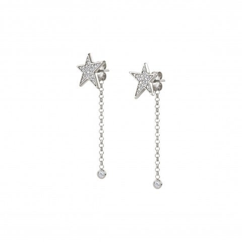 Drop_Earrings_with_Star_and_Zirconia_Dangle_earrings_with_Star_studs_and_pendants