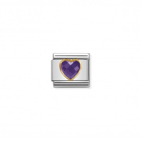 Composable_Classic_Multifaceted_Violet_Heart_Link_Link_with_Heart_symbol_in_18K_gold_and_Cubic_Zirconia