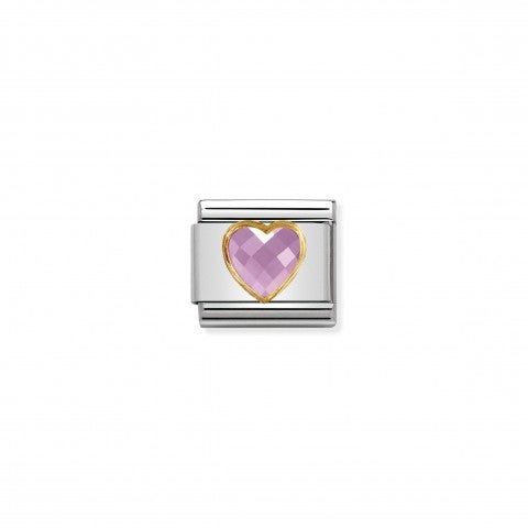 Composable_Classic_Multifaceted_Pink_Heart_Link_Link_with_pink_Heart_in_18K_gold_and_Zirconia