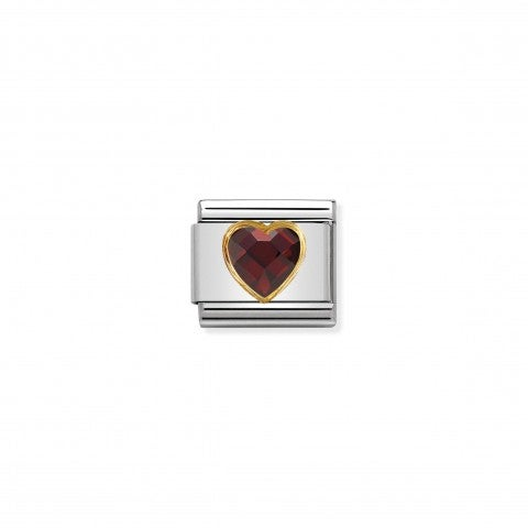 Composable_Classic_Multifaceted_Red_Heart_Link_Link_in_stainless_steel_with_Heart_symbol