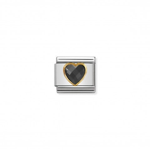 Composable_Classic_Multifaceted_Black_Heart_Link_Link_with_Love_symbol_in_18K_gold_and_stainless_steel
