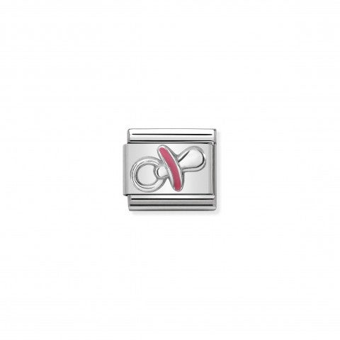 Composable_Classic_Pink_Pacifier_Link_Link_with_Pacifier_symbol_in_sterling_silver