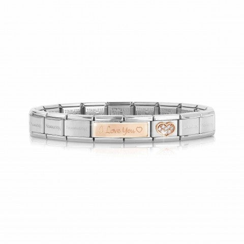 Bracelet_Composable_Classic_I_love_you_avec_cœur_Bracelet_avec_Link_en_Or_Rose_375_et_Zirconium