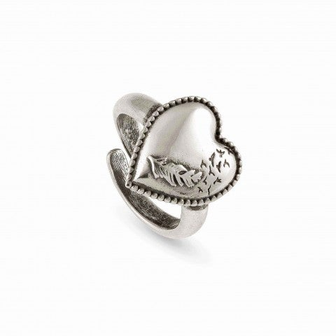 Adjustable_Ring_RockInLove_Heart_and_Feather_Brass_and_999_Silver_Plated_Ring