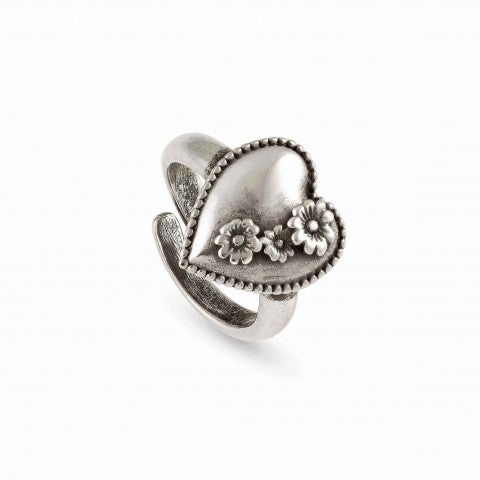 Adjustable_Ring_RockInLove_Heart_and_Flowers_Brass_ring_with_Symbols_in_Brass_and_999_Silver_Plating