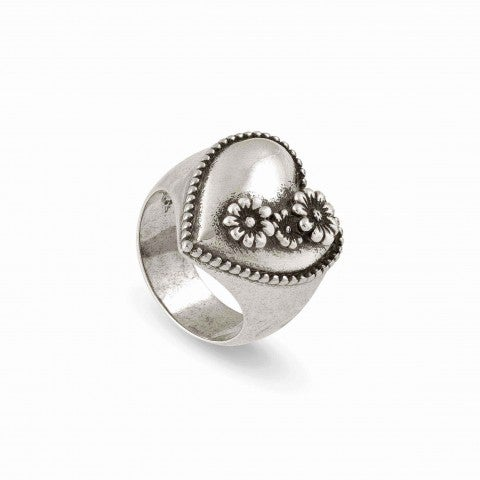 Brass_Ring_RockinLove_with_Flowers_Brass_Ring_Vintage_Effect