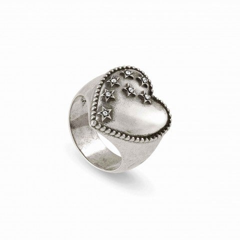 Ring_RockInLove_Heart_and_Coloured_Stars_Brass_Ring_with_999_Silver_Plating