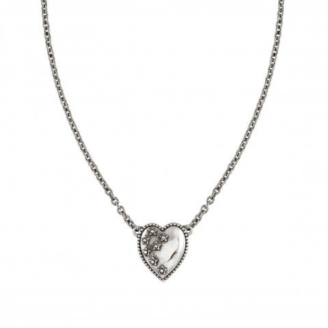 Short_Necklace_RockinLove_Heart,_Coloured_Stars_Necklace_in_Brass_with_999_Silver_Plating