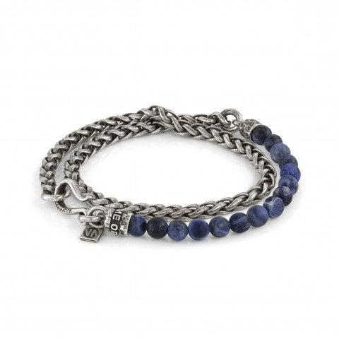 Double_Freedom_Bracelet_in_Hard_Stones_Double_bracelet_in_brass_and_Sodalite