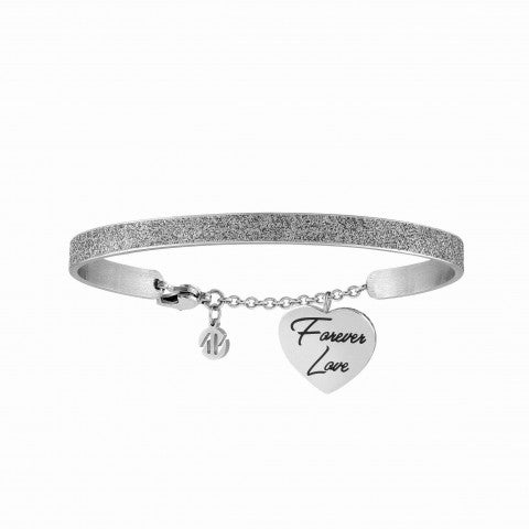 Messaggiamo_bracelet_in_steel_FOREVER_LOVE_Bracelet_with_romatic_text,_made_from_steel