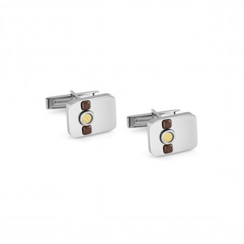 Cufflinks_Voyage_Stainless_Steel_Brown_Ematite_Cufflinks_with_details_in_18K_Gold