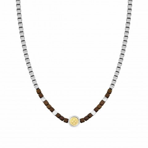Necklace_Voyage_Stainless_Steel_Brown_Ematite_Necklace_with_18K_Gold_details_and_Brown_stones